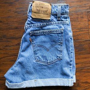Vintage Levis 954 Orange Tag Jean Shorts Size 27